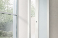 Prima vetro scorrevole int.muro laccato bianco 9010